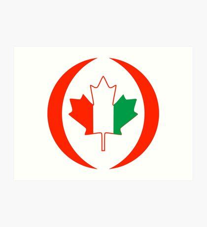 Ivory Coast Canadian Multinational Patriot Flag Series Art Print