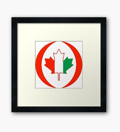 Ivory Coast Canadian Multinational Patriot Flag Series Framed Print