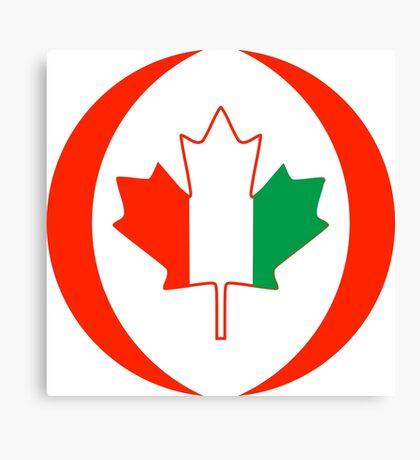Ivory Coast Canadian Multinational Patriot Flag Series Canvas Print