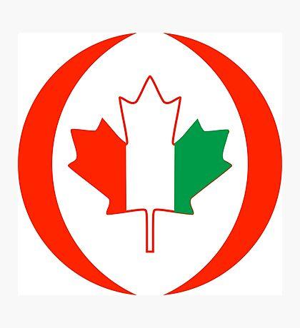 Ivory Coast Canadian Multinational Patriot Flag Series Photographic Print