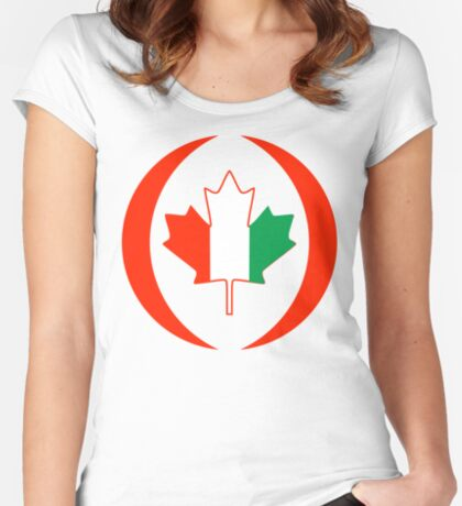 Ivory Coast Canadian Multinational Patriot Flag Series Fitted Scoop T-Shirt