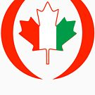 Ivory Coast Canadian Multinational Patriot Flag Series by Carbon-Fibre Media