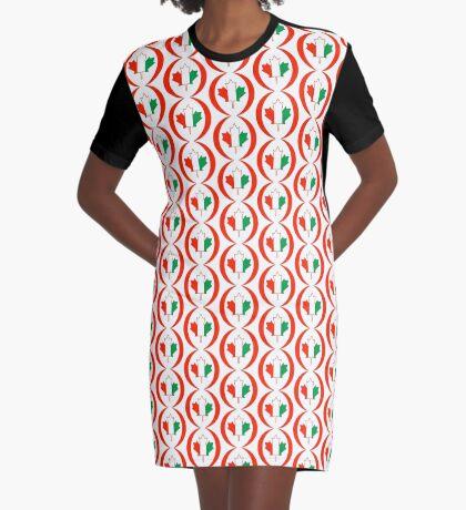 Ivory Coast Canadian Multinational Patriot Flag Series Graphic T-Shirt Dress
