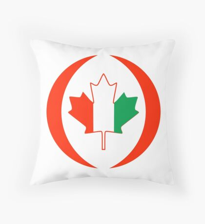 Ivory Coast Canadian Multinational Patriot Flag Series Throw Pillow