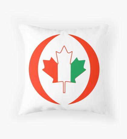 Ivory Coast Canadian Multinational Patriot Flag Series Throw Pillow