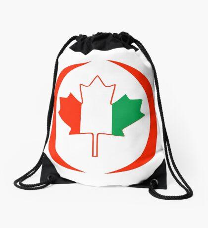 Ivory Coast Canadian Multinational Patriot Flag Series Drawstring Bag