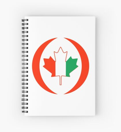 Ivory Coast Canadian Multinational Patriot Flag Series Spiral Notebook