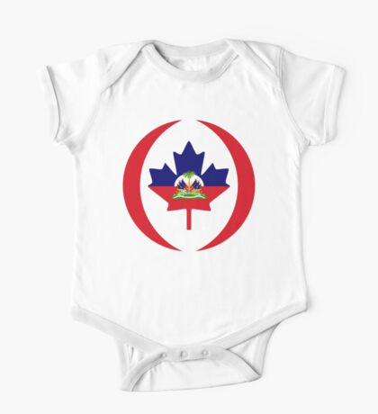 Haitian Canadian Multinational Patriot Flag Series Kids Clothes