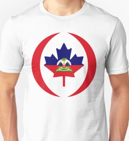 Haitian Canadian Multinational Patriot Flag Series T-Shirt