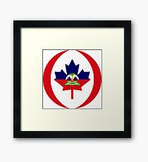 Haitian Canadian Multinational Patriot Flag Series Framed Print