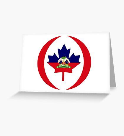 Haitian Canadian Multinational Patriot Flag Series Greeting Card