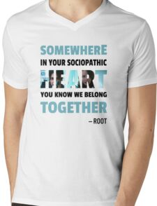sociopathic heart - Root & Shaw Mens V-Neck T-Shirt