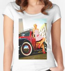 Beetle Pin up Girl Women's Fitted Scoop T-Shirt