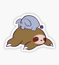 Big Sloth and Tiny Elephant Sticker