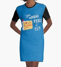 Angry Cake Graphic T-Shirt Dress