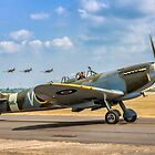 The Grace Spitfire taxies out by Colin Smedley