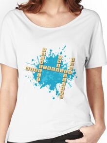 Scrabble: Make yourself stronger than your excuses | Hazte más fuerte que tus excusas Women's Relaxed Fit T-Shirt