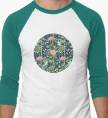 Bamboo, Birds and Blossom - dark teal T-Shirt