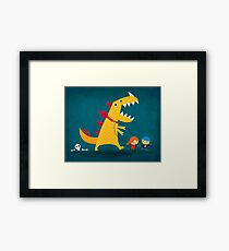 Dino Walk Framed Print