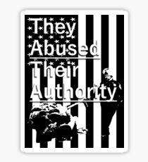 Abuse Sticker