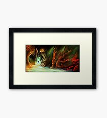 Lost in a Cave Framed Print