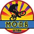 MOUNTAIN BIKE MOAB UTAH BIKING MOUNTAINS by MyHandmadeSigns