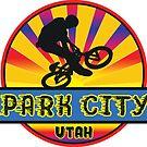 MOUNTAIN BIKE PARK CITY UTAH BIKING MOUNTAINS by MyHandmadeSigns