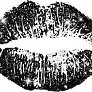 Stylish Black Glitter Lips by Nhan Ngo