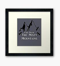 Misty Mountains Framed Print