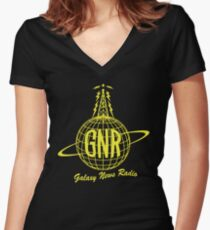 Galaxy New Radio Women's Fitted V-Neck T-Shirt