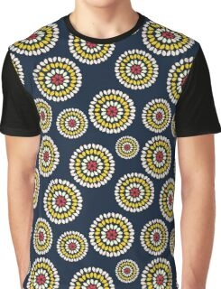 Blooming Floral Circles Graphic T-Shirt