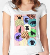 Endangered Animals Women's Fitted Scoop T-Shirt