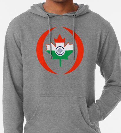 Indo Canadian Multinational Patriot Flag Series Lightweight Hoodie