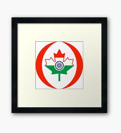 Indo Canadian Multinational Patriot Flag Series Framed Print