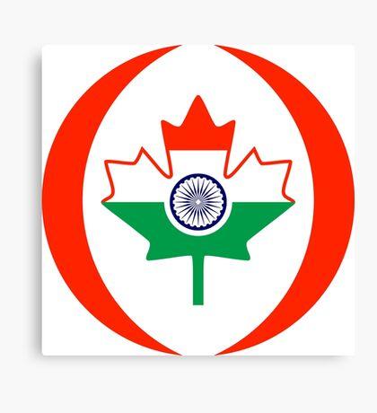 Indo Canadian Multinational Patriot Flag Series Canvas Print