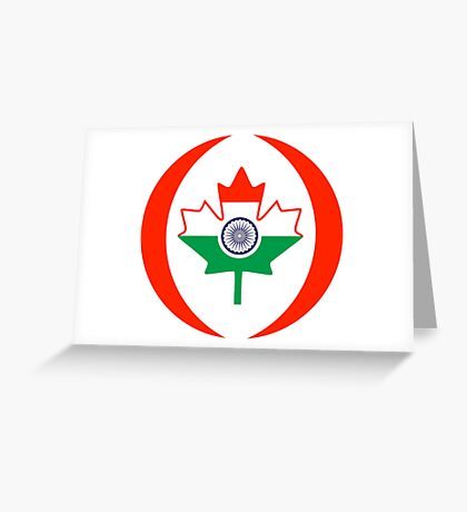 Indo Canadian Multinational Patriot Flag Series Greeting Card