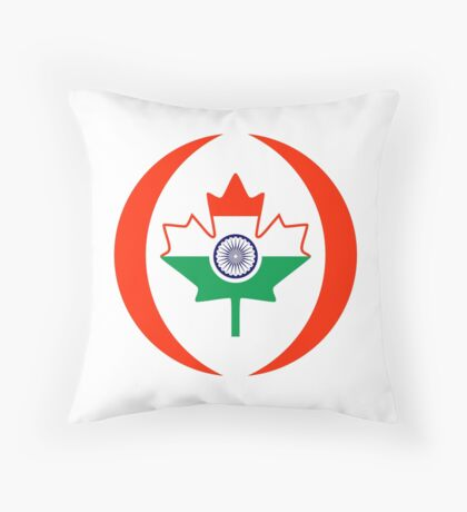 Indo Canadian Multinational Patriot Flag Series Throw Pillow