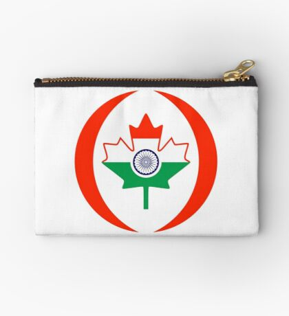 Indo Canadian Multinational Patriot Flag Series Zipper Pouch
