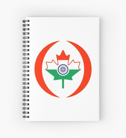 Indo Canadian Multinational Patriot Flag Series Spiral Notebook