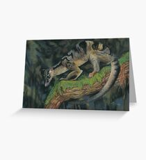 Banded Palm Civet pastel painting   Greeting Card