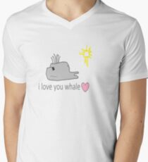 I love whales Mens V-Neck T-Shirt