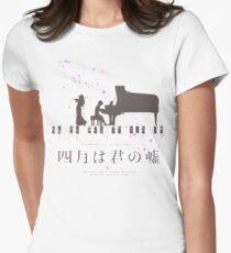 Shigatsu wa Kimi no Uso Womens Fitted T-Shirt