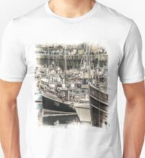 Boats in a Harbour - Cornwall T-Shirt
