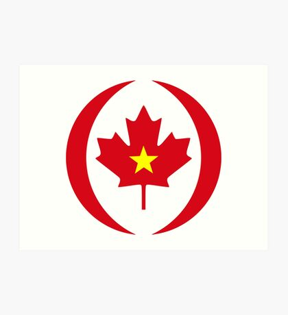 Vietnamese Canadian Multinational Patriot Flag Series Art Print