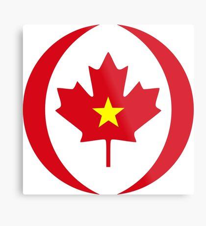 Vietnamese Canadian Multinational Patriot Flag Series Metal Print