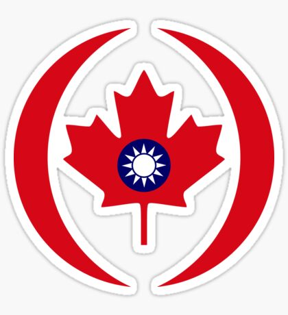 Taiwanese Canadian Multinational Patriot Flag Series Sticker