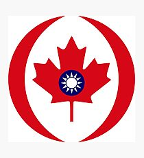 Taiwanese Canadian Multinational Patriot Flag Series Photographic Print