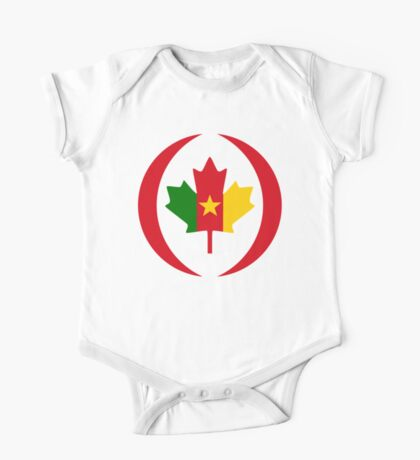 Cameroon Canadian Multinational Patriot Flag Series Kids Clothes