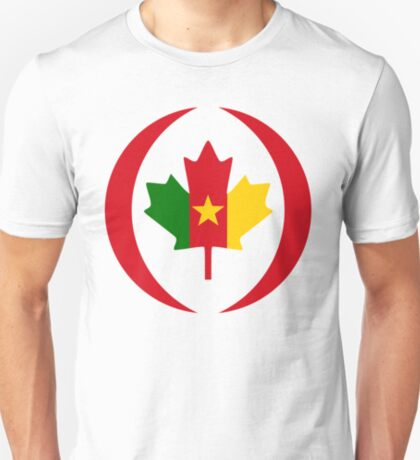 Cameroon Canadian Multinational Patriot Flag Series T-Shirt
