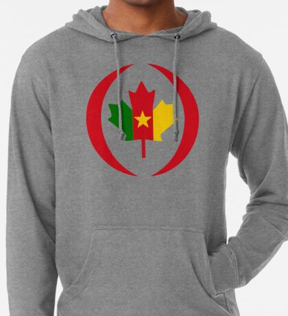 Cameroon Canadian Multinational Patriot Flag Series Lightweight Hoodie